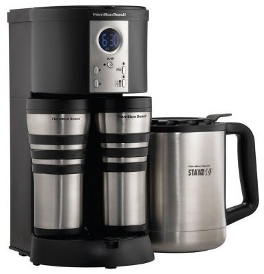 Hamilton Beach 45237 Stay Or Go Thermal Coffeemaker   Black Modern Coffee  And