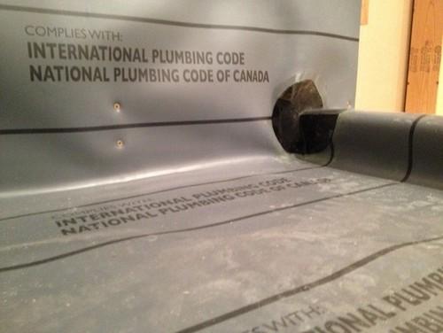 Shower pan liner holes - Shower base liner ...