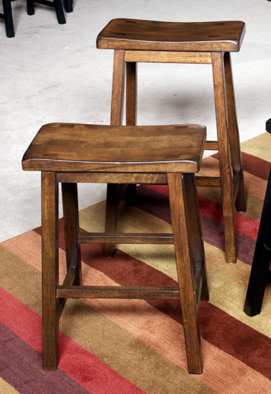Wood Backless Counter Stools