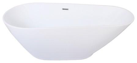 "Kingston Brass Aqua Eden 69"" Contemporary Freestanding Acrylic Slipper Bathtub."