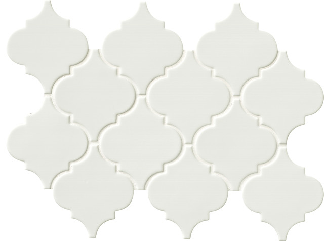 10 83 Quot X15 5 Quot Whisper White Arabesque Glazed Ceramic Wall