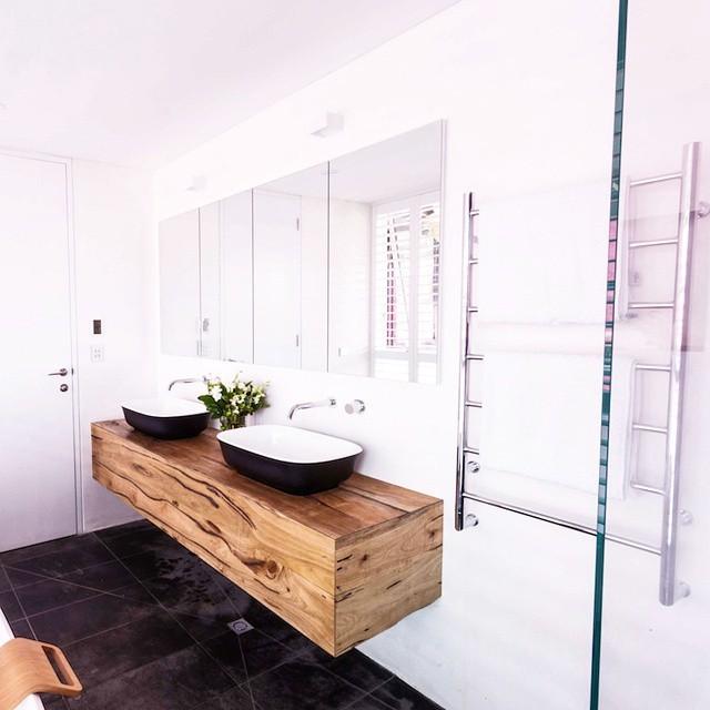 Vanities Bathroom Melbourne northcliff marri floating vanity - contemporary - bathroom