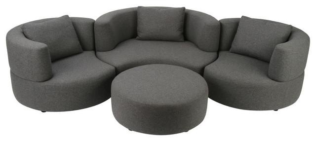 Josephine Sofa, Gray Wool