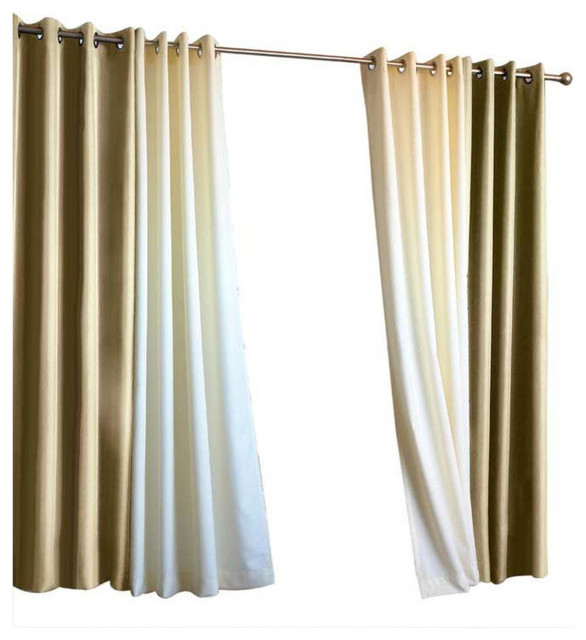 "Indoor/outdoor Decor Gazebo Solid Grommet Top Window Panel, Khaki, 50""x108""."