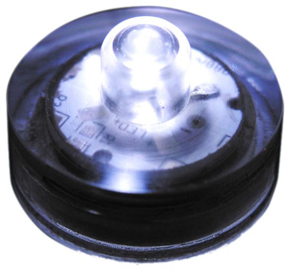 Lumabase Luminarias Led Battery Operated Submersible Lights, Set Of 12, White.