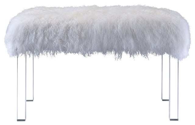 Sherpa Fur Bench. -1