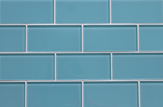 Infinity Blue Glass Subway Tile Contemporary Wall And Floor Tile