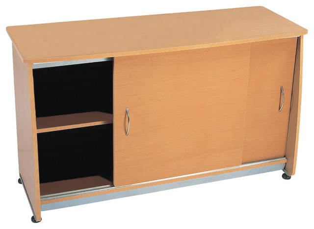 Sliding Door Credenza - Contemporary - Accent Chests And ...
