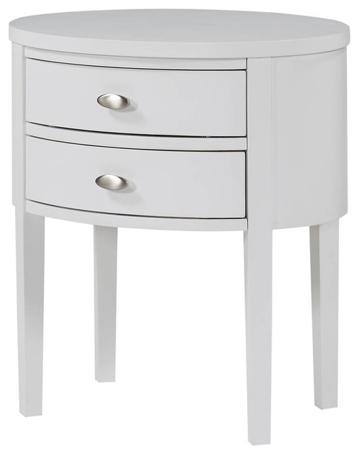 Nightstand, White Finish.
