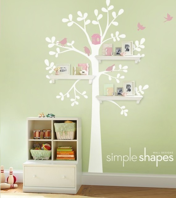 71 best images about nash girl baby room on pinterest - Simple Shapes Wall Design
