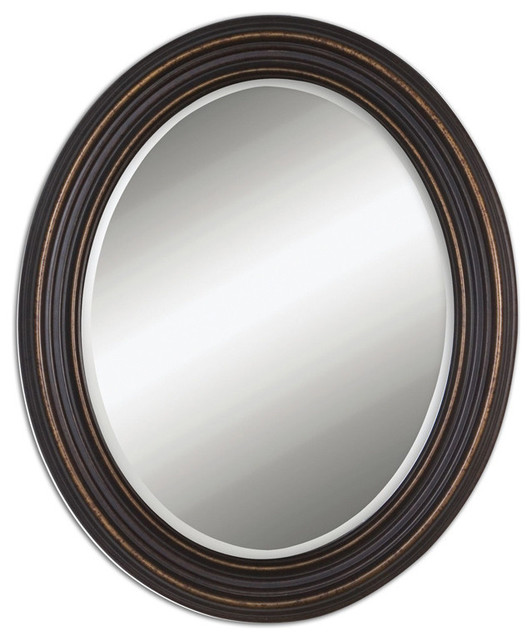 Amazoncom Uttermost Galina Iron Oval Wall Mirror Home