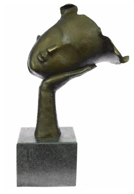 Handcrafted Female Version Salvador Dali Bronze Masterpiece Sculpture Figurine
