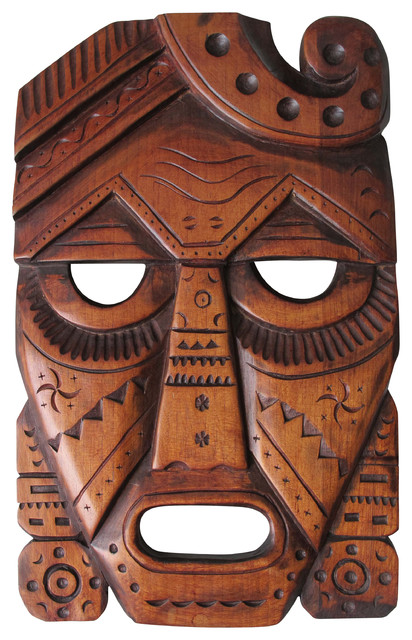 Inca S Warrior Mask Wooden Craft Hand Carved By