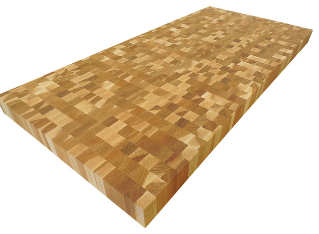 Great End Grain Hickory Butcher Block Countertop Transitional Kitchen Countertops