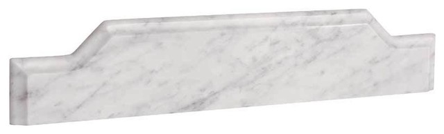 "Ronbow Torino Marble Backsplash, Carrara White, 31""."