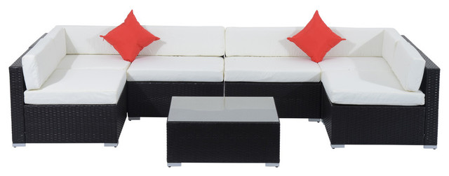 Milo 7 Piece Patio Sofa Set