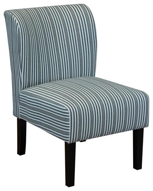 sauzon stripe upholstered chair black