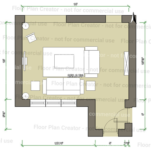 area rug size for living room Area Rug Sizing for Living Room