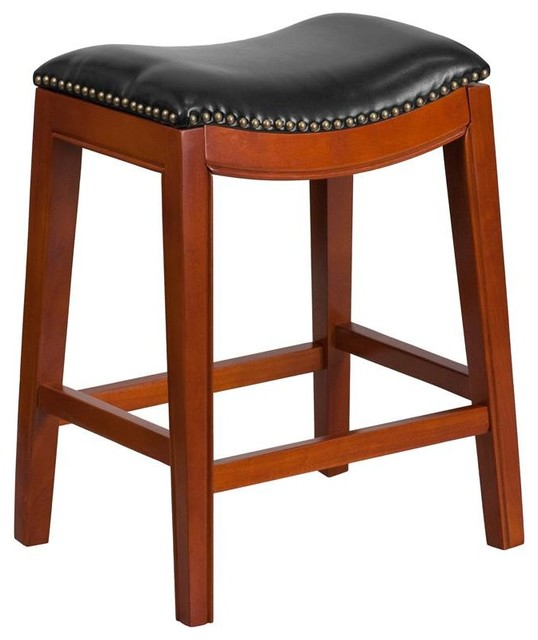 Shop Houzz Flash Furniture Backless Barstool Cappuccino