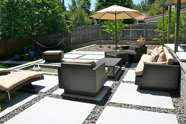 Cement patio décor