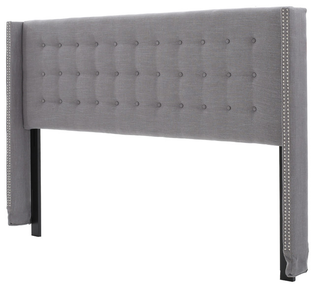 Karen Fully Upholstered King/cal King Headboard, Dark Gray.