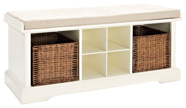 Enjoyable Brennan Entryway Storage Bench White Cjindustries Chair Design For Home Cjindustriesco