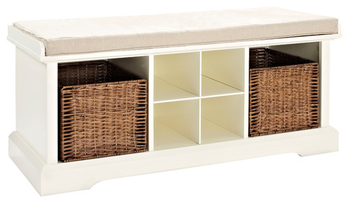 Brennan Entryway Storage Bench, White