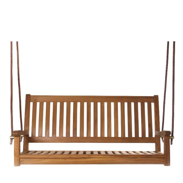 Teak Swing - Traditional - Porch Swings - by All Things Cedar Inc.