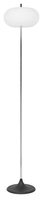 Modern Floor Lamp With Glass Shade.
