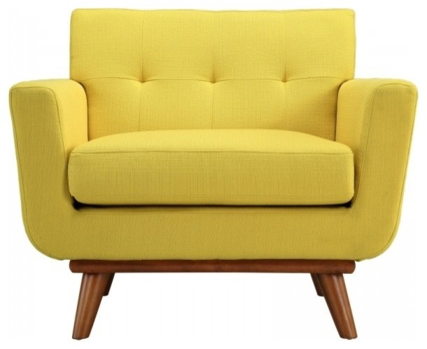 Modway Engage Upholstered Accent Chair, Sunny