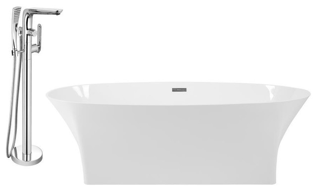 "Streamline 67"" Freestanding Faucet And Tub Set, H-120-Tfmshch."