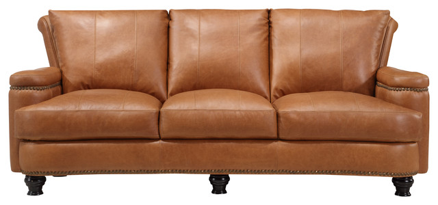 Nathan Top Grain Italian Leather Sofa - Traditional - Sofas - by ...