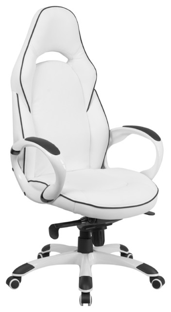 Rometti High Back Executive Office Chair White With Black Trim