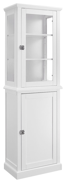 Bathroom Cabinets Tall scarsdale tall cabinet - transitional - bathroom cabinets and