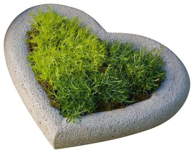 Heart Small Planter  Campania Cast Stone Garden Art modern garden statues  and. Heart Small Planter  Campania Cast Stone Garden Art   Modern
