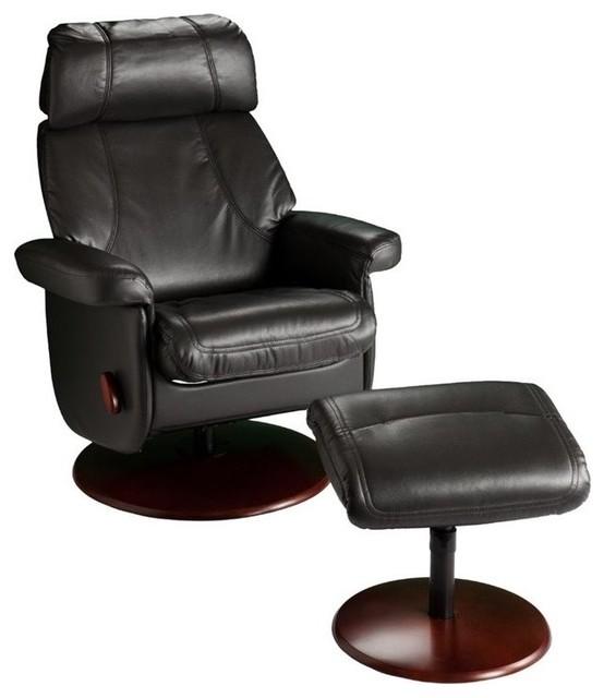 Pleasing Southern Enterprises Swivel Glider Recliner With Ottoman In Black Uwap Interior Chair Design Uwaporg