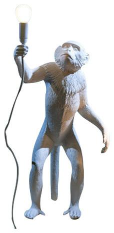 "Resin Lamp ""monkey Lamp-Us"", Standing."