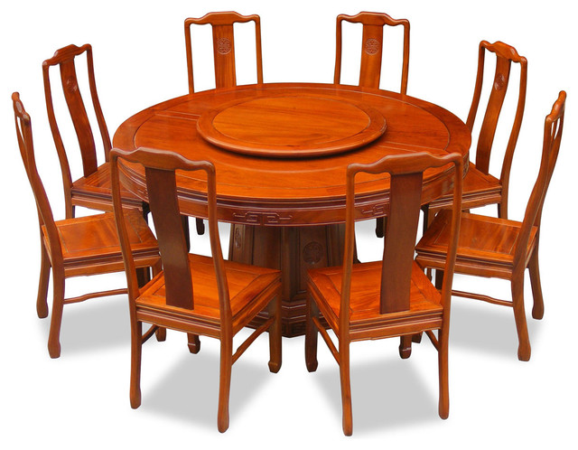 60 Quot Rosewood Longevity Design Round Dining Table With 8