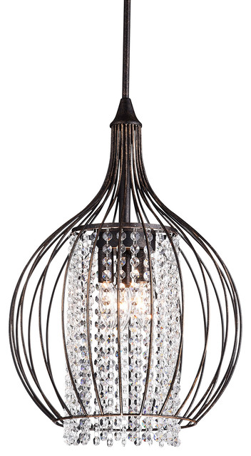 3-Light Metal Pendant With Bell Shade Antique Bronze contemporary-pendant- lighting  sc 1 st  Houzz : bell lighting - azcodes.com