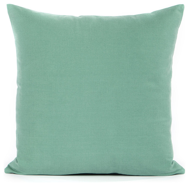 Silver Fern Decor Solid Seafoam Green Accent Throw