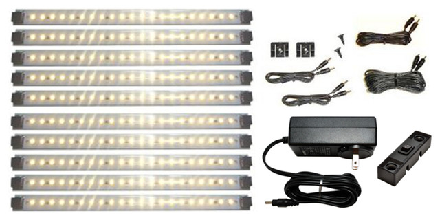 Led Under Cabinet Lighting Kit Pro Series 21 Led Super Deluxe Kit, Warm White.