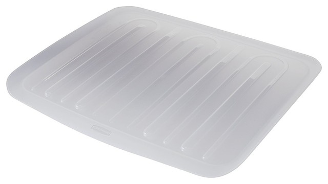 "Rubbermaid 1182-MA-CLR Side Dish Drainer Tray, 14-4/5""x18"""