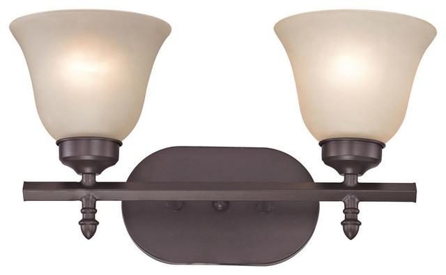 Brushed Nickel 2 Globe Vanity Bath Light Bar Interior: Santa Fe 2-Light Bath Bar Oil Rubbed Bronze