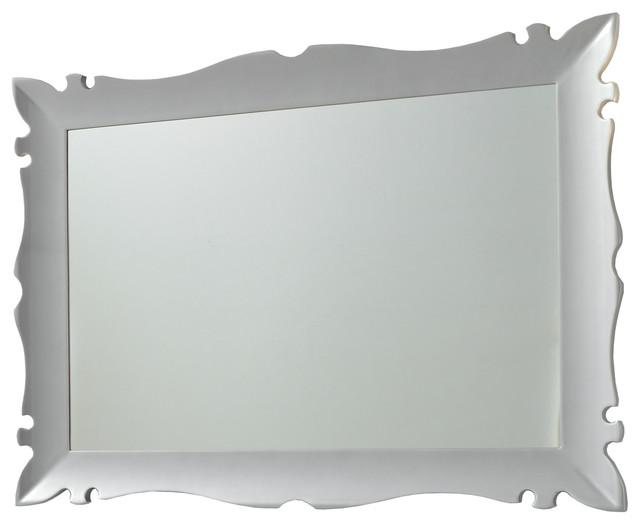 Versalles Framed Mirror 43 Silver Gloss Contemporary Bathroom Mirrors