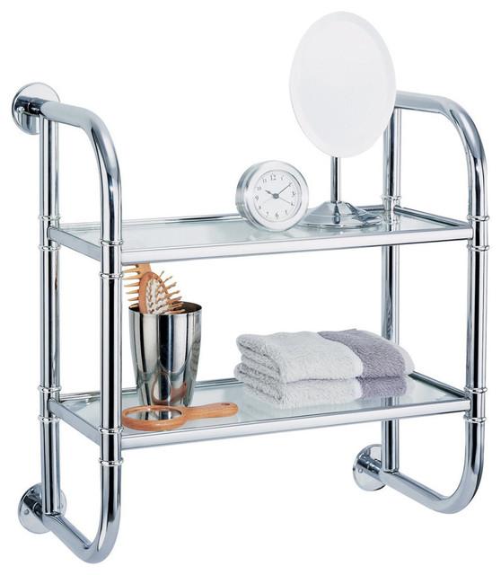 2 Tier Bath Shelf Contemporary