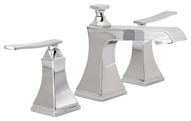 Miseno Elysa-B Widespread Bathroom Faucet With Pop-Up Drain Assembly, Chrome by Miseno