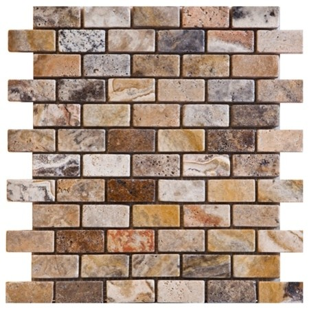 Scabos Tumbled Travertine Tiles