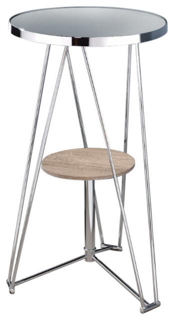 Peachy Conteporary Bar Table Mirror Gray Oak Chrome Inzonedesignstudio Interior Chair Design Inzonedesignstudiocom