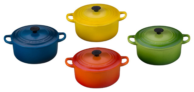 Le Creuset 4 Piece Multi Colored Mini French Oven Magnets