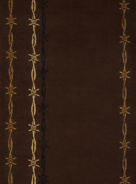United Weavers Affinity Barb Wire Brown Accent Rug 1'10x3'